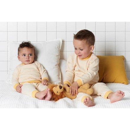 Feetje pyjama wafel baby Okergeel