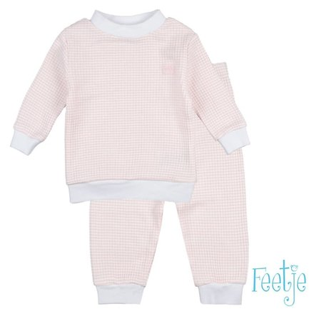 Feetje pyjama wafel baby Zalm