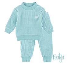 Feetje pyjama wafel baby Groen melange