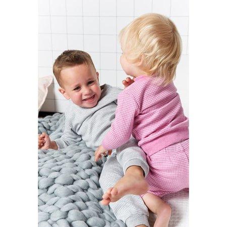 Feetje Feetje pyjama wafel baby Grijs melange