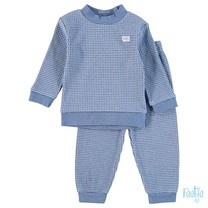 Pyjama wafel baby Blue melange