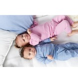 Feetje Feetje pyjama wafel baby Blue melange