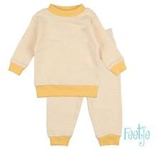 Feetje pyjama wafel kids Okergeel