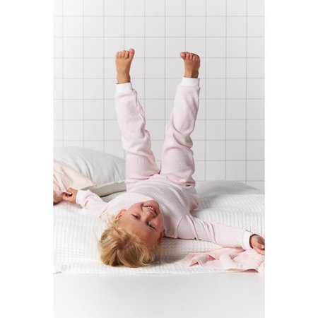 Feetje Feetje pyjama wafel kids Zalm