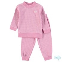 Pyjama wafel kids Roze melange