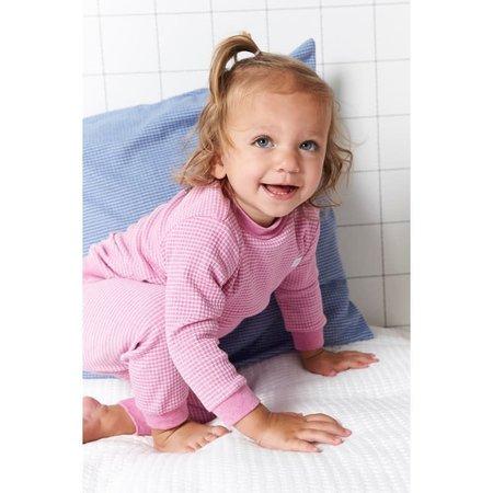 Feetje Feetje pyjama wafel kids Roze melange