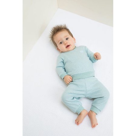 Feetje Feetje pyjama wafel kids Groen melange