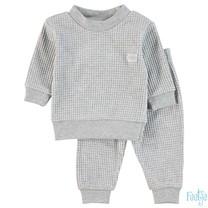 Pyjama wafel kids Grijs melange