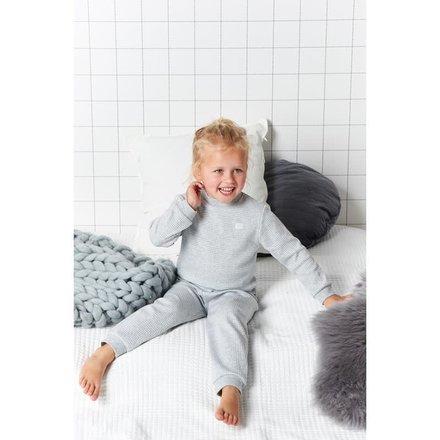Feetje pyjama wafel kids Grijs melange