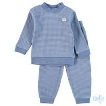 Pyjama wafel kids Blue melange