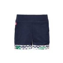 Short jersey rolled-up pants midnight blue