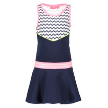 Jurk with zigzag top part ao zigzag