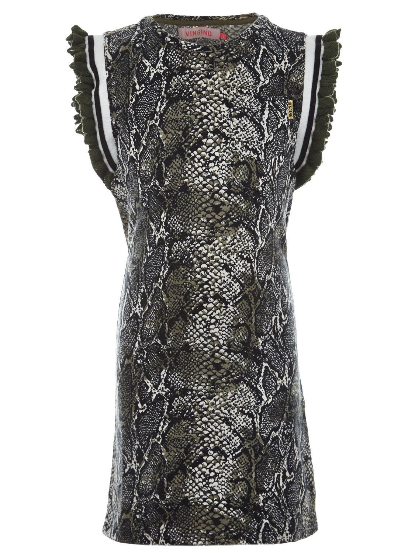 Vingino Vingino jurk Parsey olive snake