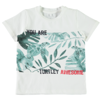 T-shirt Famil snow white