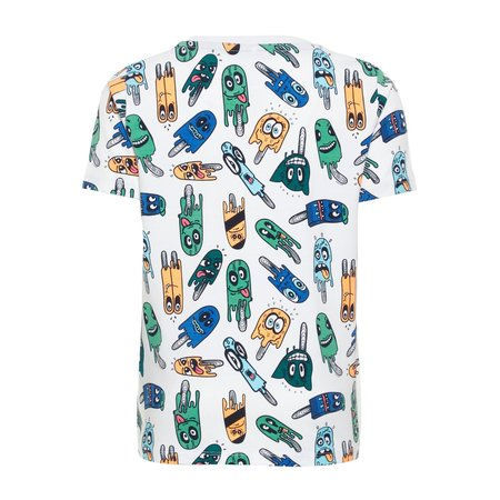 Name It T-shirt Pako bright white aop ice