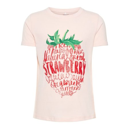 Name It Name It T-shirt Sigrid strawberry cream