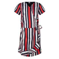 Jurk wrap striped