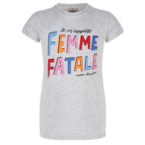 T-shirt femme light grey melange