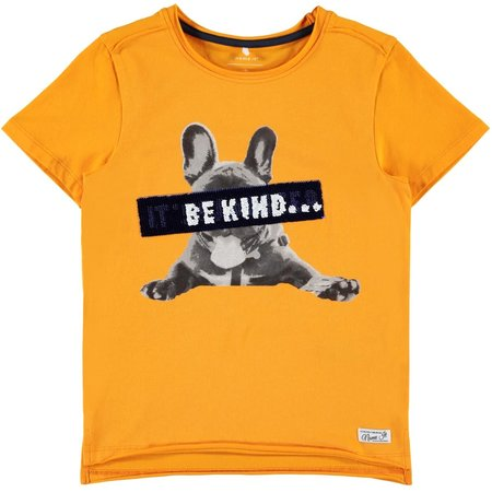 Name It Name It T-shirt Jonas orange pop