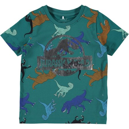 Name It Name It T-shirt Jurassic titan teal green