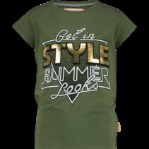 T-shirt Helmi dark army