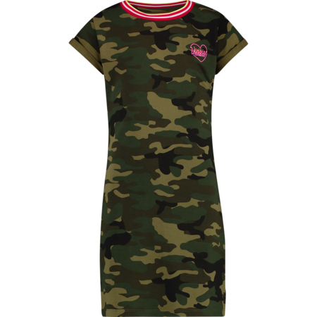 Vingino Vingino jurk Pelagie army all-over