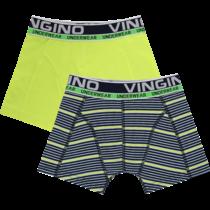 Boxershorts 2-pack striped dark blue