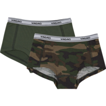 Hipster 2-pack Solid dark army
