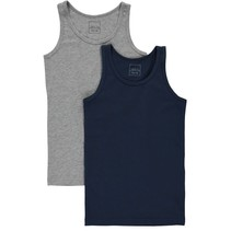 Tanktop 2-pack grey melange