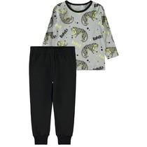 Pyjama grey melange aop glow