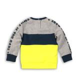 Dirkje Dirkje trui smile if you dare grey melee + blue + neon yellow