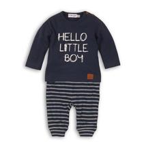 2-delig setje hello little baby navy + navy/off white
