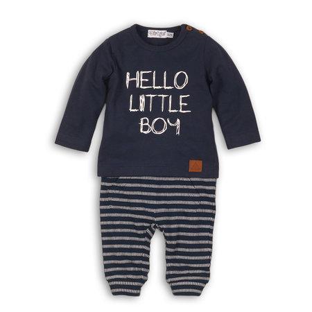 Dirkje Dirkje 2-delig setje hello little baby navy + navy/off white