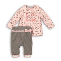 2-delig setje smile grey + light pink aop
