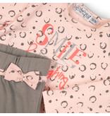 Dirkje Dirkje 2-delig setje smile grey + light pink aop