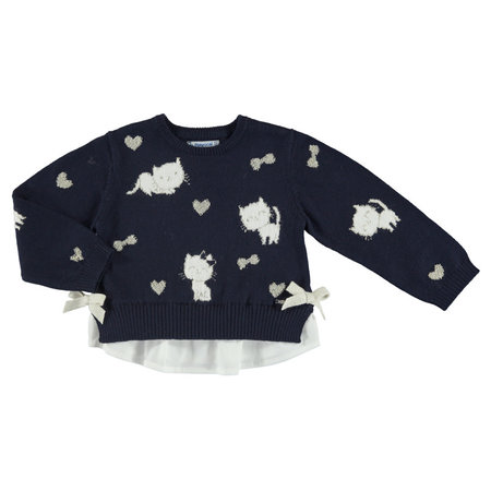 Mayoral Mayoral trui combined knit navy