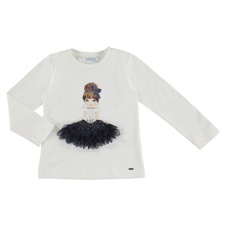 Mayoral Mayoral longsleeve doll natur-navy
