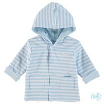 Omkeerbaar jasje met capuchon stripe blue