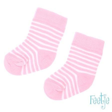 Feetje Feetje sokjes streep roze