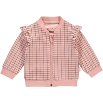 Vestje Ines dusty pink grid