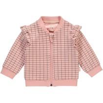 Vestje Ines dusty pink grid