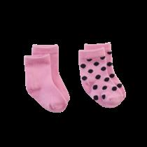 Sokjes Mississippi pretty pink / navy / dots