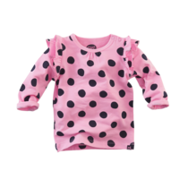 Longsleeve Dakota pretty pink dots