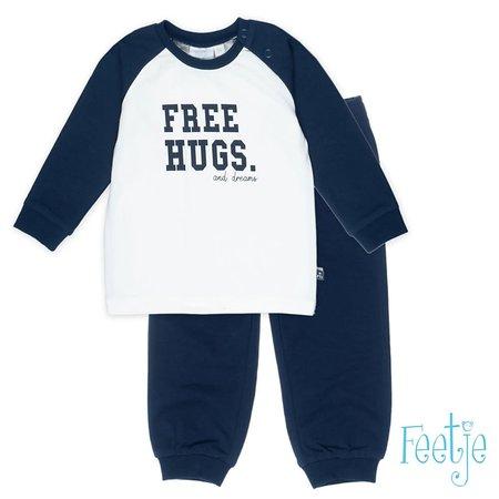 Feetje Feetje pyjama free hugs offwhite