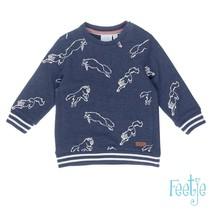 Sweater aop good fellows marine melange