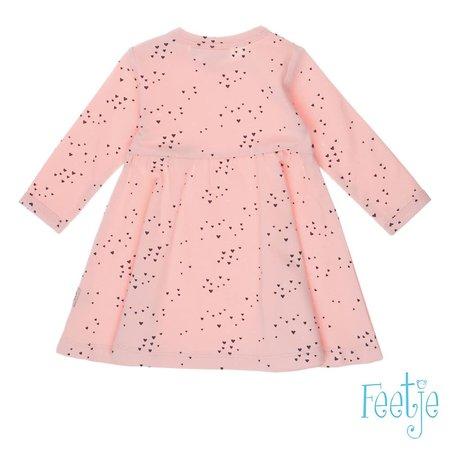 Feetje Feetje jurkje aop love you roze