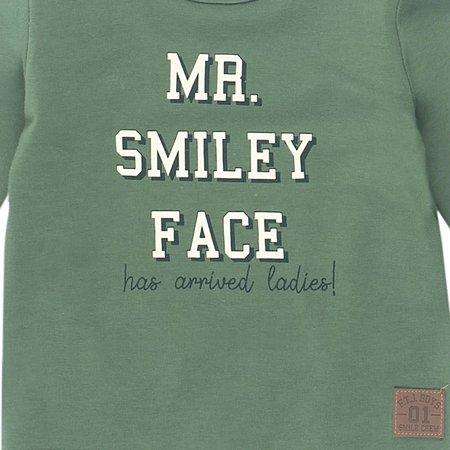 Feetje Feetje longsleeve mr. smiley smile army