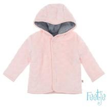 Omkeerbaar jasje met capuchon sweet & little roze