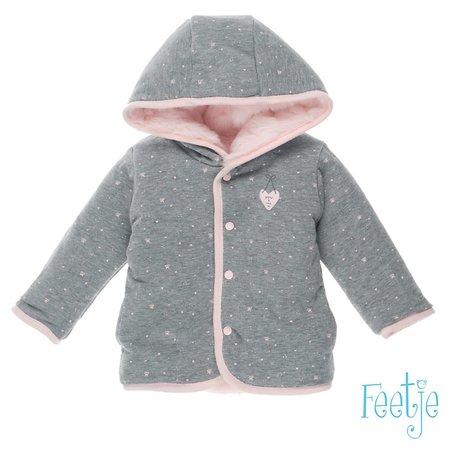 Feetje Feetje omkeerbaar jasje met capuchon sweet & little roze