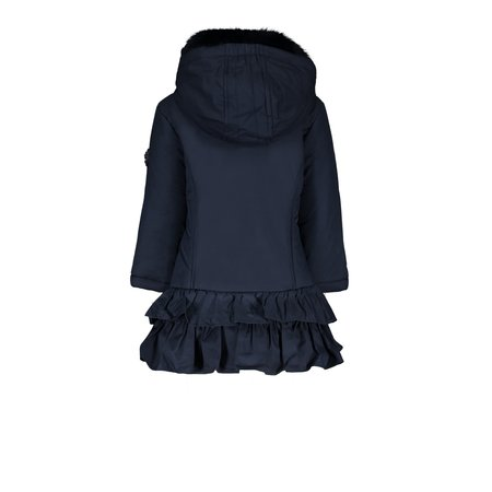 Le Chic Le Chic winterjas coat with ruffles dull luxury